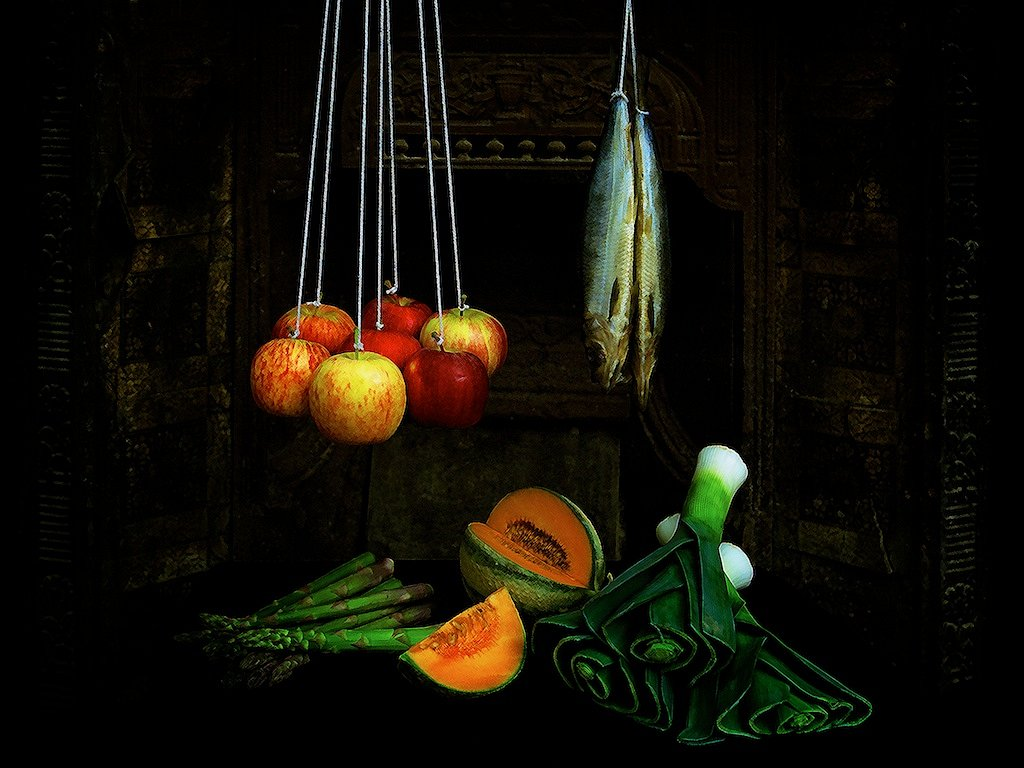 Still Life with Hanging Fish